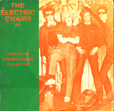 The original line up of 'The Electric Chairs' 77 - 78